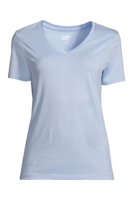 Women's Relaxed Short Sleeve T-shirt Supima Cotton V-neck