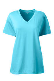 Women's Tall Relaxed Supima Cotton Short Sleeve V-Neck T-Shirt