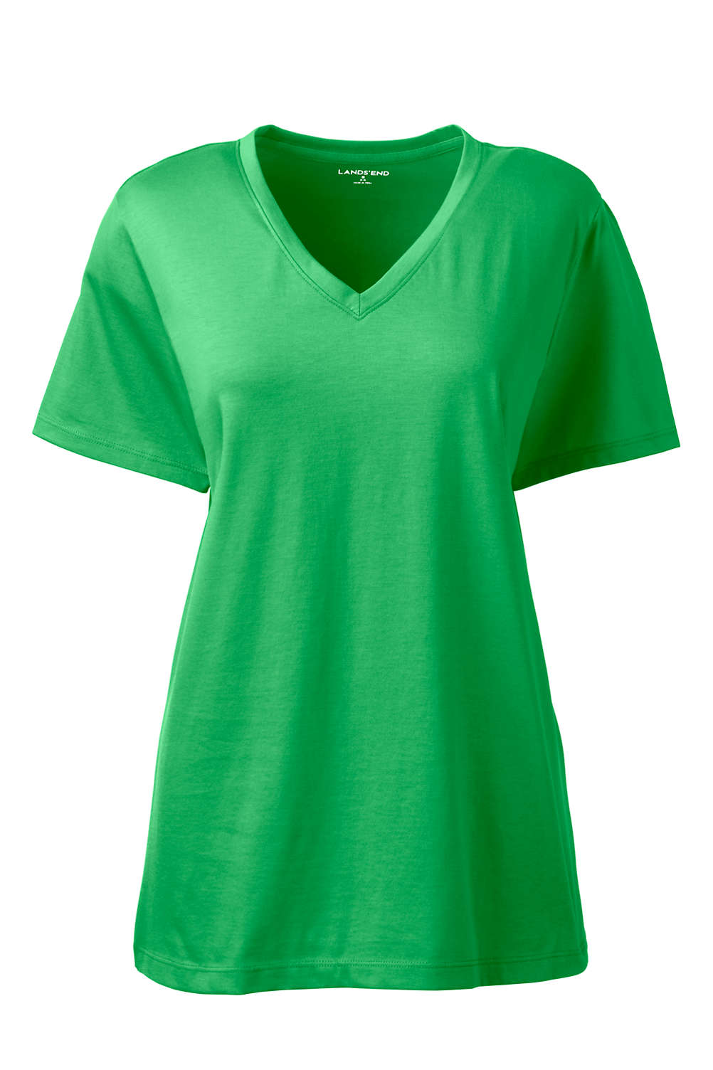 a22af6cd629d Women's Relaxed Supima Cotton Short Sleeve V-Neck T-Shirt from Lands ...
