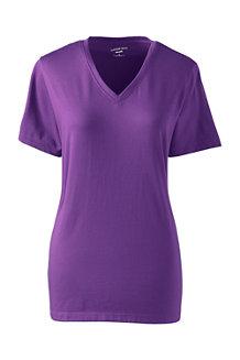Le T-Shirt Coton Supima Col en V Manches Courtes