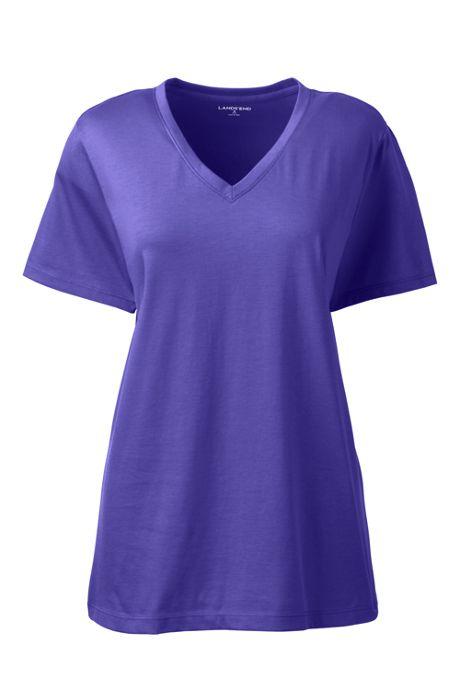 Women's Tall Relaxed Supima Cotton Short Sleeve V-Neck T-Shirt