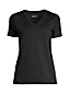 Le T-Shirt Coton Supima Col en V Manches Courtes Femme, Petite Taille