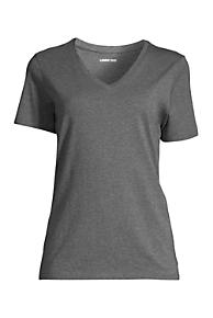 Womens Petite Supima Short Sleeve V-neck T-shirt - 10 -12 - WHITE Lands End Hot Sale Online Fast Delivery Cheap Price Outlet Marketable kriMyHdBzk