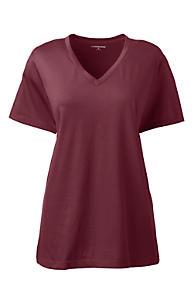 ec77730c37a Women s Relaxed Supima V-neck T-shirt