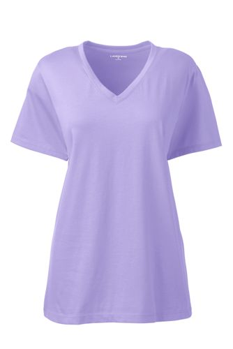1ff172d6cfdd Supima Kurzarm-Shirt mit V-Ausschnitt für Damen