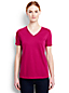 Women's Petite Supima® Short Sleeve V-neck Tee