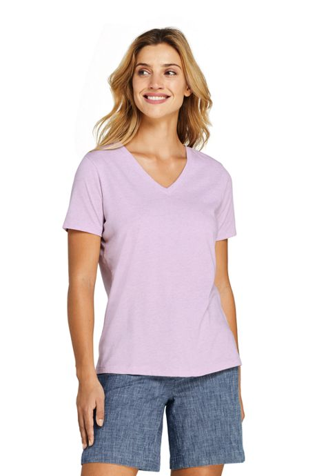 Women's Relaxed Supima Cotton Short Sleeve V-Neck T-Shirt