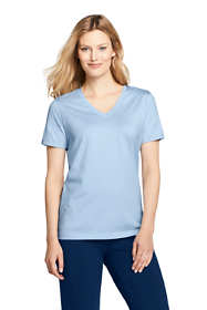 Women's Relaxed Fit Supima Cotton V-neck Short Sleeve T-shirt