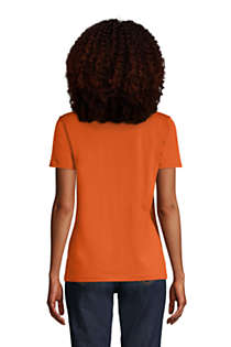 Women's Relaxed Supima Cotton Short Sleeve V-Neck T-Shirt, Back