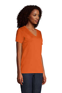 Women's Relaxed Supima Cotton Short Sleeve V-Neck T-Shirt, alternative image