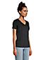 Le T-Shirt Coton Supima Col en V Manches Courtes Femme, Stature Petite