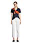 Le T-Shirt Coton Supima Col en V Manches Courtes, Femme Stature Standard