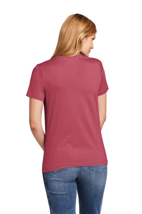 Women's Relaxed Short Sleeve T-shirt Supima Cotton V-neck