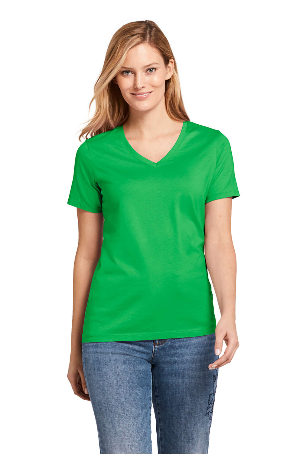 518effde9d7 Women s Supima Cotton Short Sleeve T-shirt - Relaxed V-neck from ...