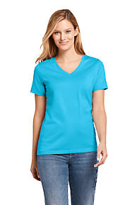 e9ef59fe1d9 Women s Supima Cotton Short Sleeve T-shirt - Relaxed V-neck