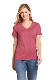 Women's Tall Supima Cotton Short Sleeve T-shirt - Relaxed V-neck