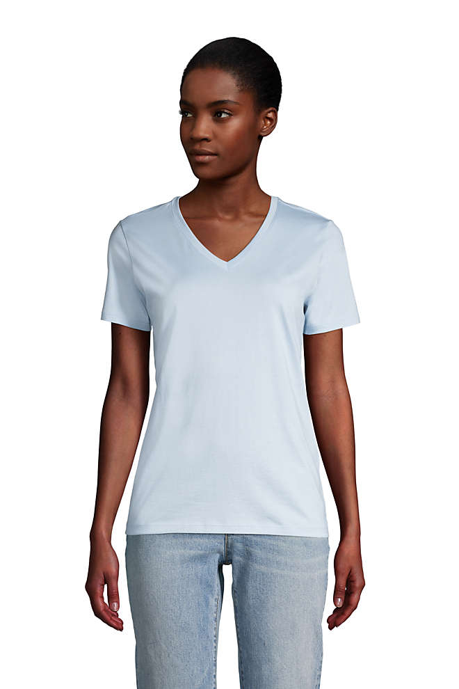 Women's Relaxed Supima Cotton Short Sleeve V-Neck T-Shirt, Front