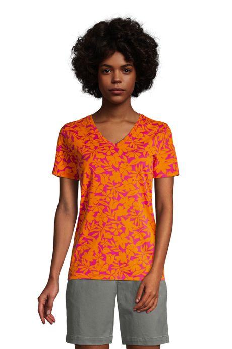 Women's Relaxed Supima Cotton Short Sleeve V-Neck T-Shirt