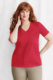 Women's Short Sleeve Relaxed Supima V-neck T-shirt