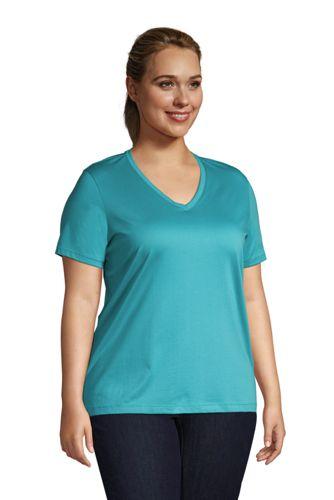 Women's Plus Size Relaxed Supima Cotton Short Sleeve V-Neck T-Shirt
