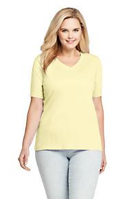 e60d3d33c29 Women s Plus Size Supima Cotton Short Sleeve T-shirt - Relaxed V-neck