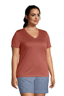 Women's Plus Size Relaxed Supima Cotton Short Sleeve V-Neck T-Shirt, alternative image