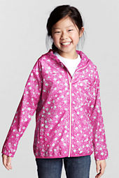 Girls' Pattern Packable Navigator Rain Jacket