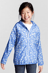 Girls' Navigator® Packable Patterned Rain Jacket