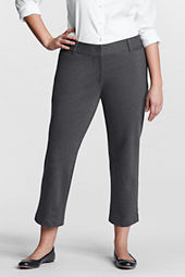 Women's Plus Size Fit 2 Ponté Crop Pants