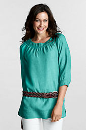 Women's 3/4-sleeve Linen Ballet Tunic