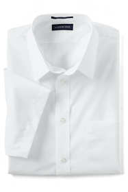 School Uniform Men's Short Sleeve Straight Collar Broadcloth Shirt