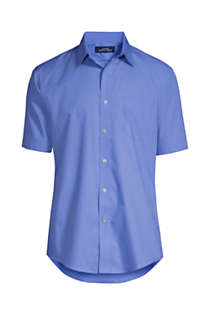 Men's Big and Tall Short Sleeve Straight Collar Broadcloth Shirt, Front