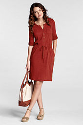 Women's Roll Sleeve French Terry 2-pocket Dress