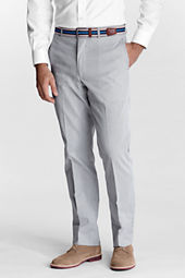 Men's Plain Front Tailored Fit Pincord Trousers