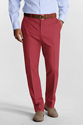 Men's Plain Front Tailored Fit Poplin Trousers