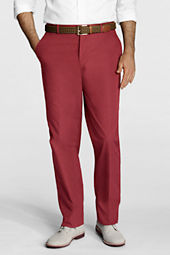 Men's Plain Front Traditional Fit Poplin Trousers