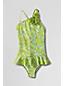 Little Girls' Over-the-Shoulder Flower Swimsuit