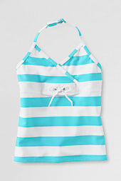 Little Girls' Tie-front Halter Tankini Top