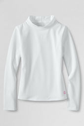 Girls' Long Sleeve Solid Mockneck Rash Guard