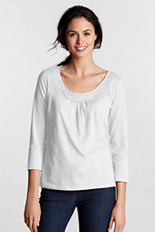 Women's Pleated Scoop Neck Tee