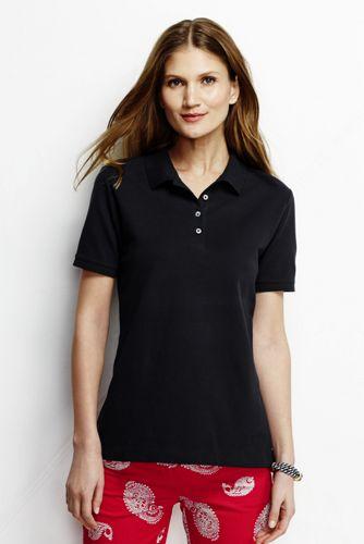 Women's Petite Pique Slim Fit Polo