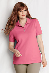Women's Short Sleeve Pique Polo Shirt