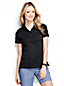 Unifarbenes Pima-Poloshirt mit kurzen Ärmeln für Damen