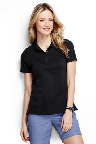 Women's Regular Plain Short Sleeved Pima Polo Classic Fit