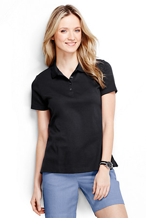 10947cdc Women's Plain Short Sleeved Pima Polo Classic Fit | Lands' End