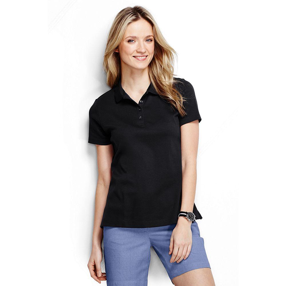 Lands' End Women's Petite Pima Polo Shirt at Sears.com