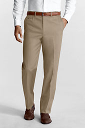 Men's Plain Front Comfort Waist No Iron Twill Trousers