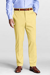 Men's Plain Front Tailored Fit No Iron Twill Trousers