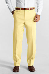 Men's Plain Front Traditional Fit No Iron Twill Trousers