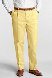 Men's Pleat Front Comfort Waist No Iron Twill Trousers